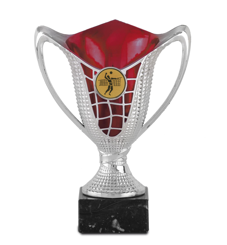 Copa en acrilico de color rojo o azul Oro rojo 17 cm 13,5 cm
