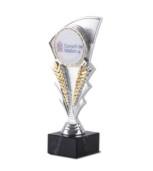 Copa Viesca en plateado Plata azul 19,5 cm