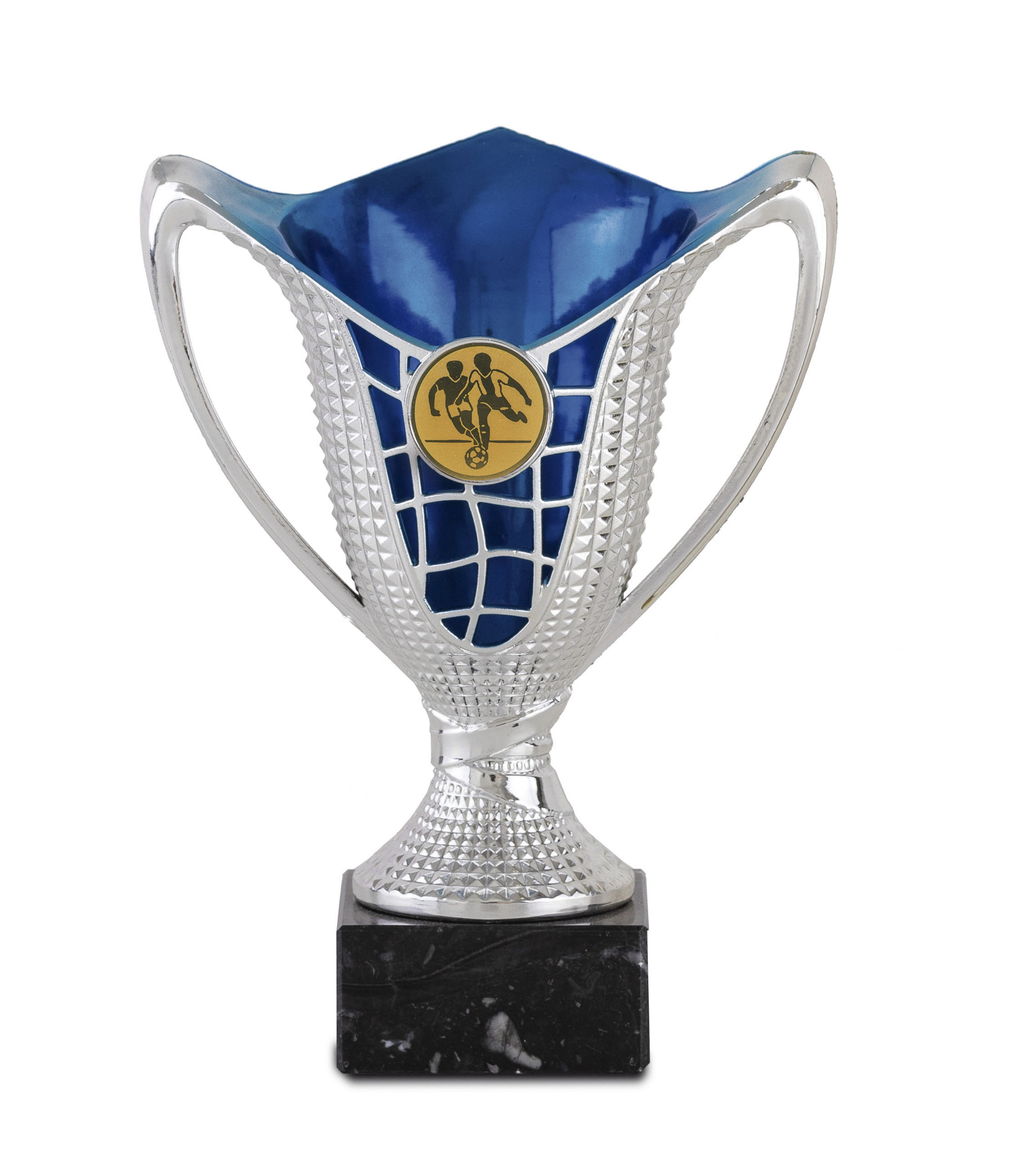 Copa en acrilico de color rojo o azul Plateado azul 17 cm 13,5 cm
