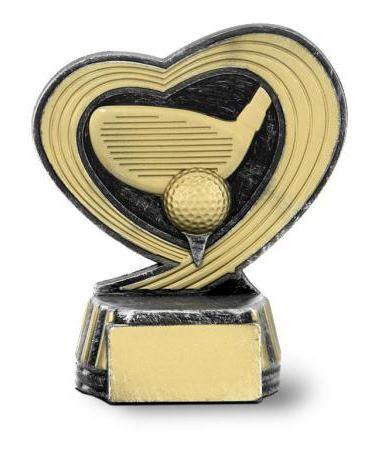 Trofeo de Golf con forma de corazón 12 cm