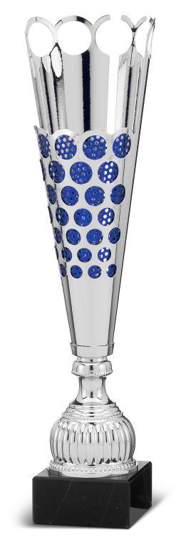 Copa en acabado Verde y dorado Chumbera Azul 47 cm 43 cm 38 cm