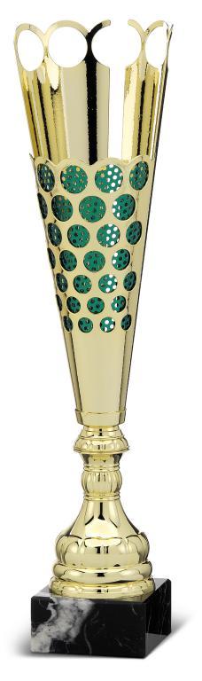 Copa en acabado Verde y dorado Chumbera Verde 47 cm 43 cm 38 cm