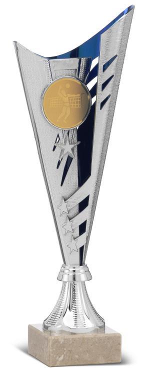 Copa Ossly Ramitos y Disco azul y plata Plata azul 30,5 cm 38 cm 35,5 Cm