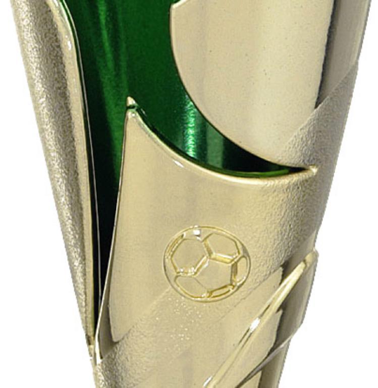 Copa Verde Metálico Elke Oro verde 16,5 cm
