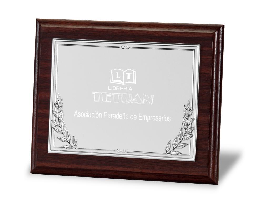 Placa conmemorativa en aluminio con ramilletes Loperas Total 29x23 cm Plateada Metal 23x18 cm Metal 20X15cm Total 24x19 cm Metal 16x12 cm Total 21x17 cm