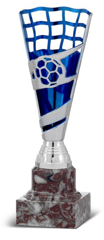 Copa Viesca en plateado y azul con campana alta Plata azul 19,5 cm