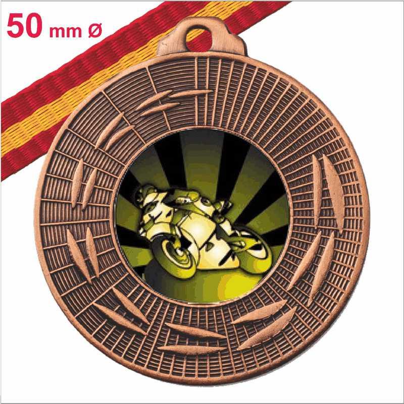 Medalla Oferta Fabricación Propia Bronce Española 50 mm Ø