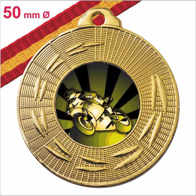 Medalla Oferta Fabricación Propia Oro Española 50 mm Ø