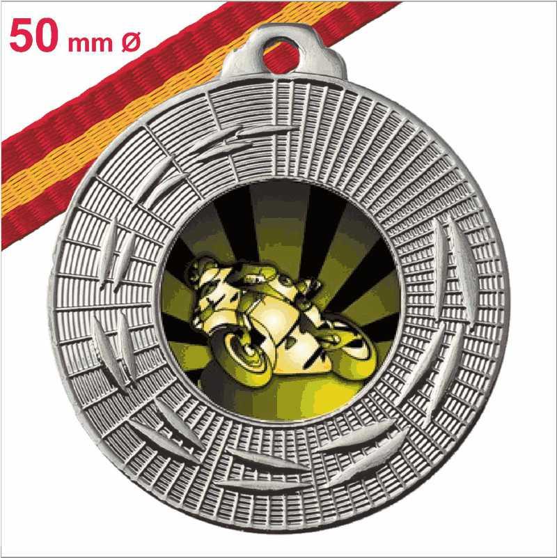 Medalla Oferta Fabricación Propia Plata Española 50 mm Ø
