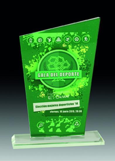 Trofeo Cristal Duero 18x13 cm 16x12 cm 14x11 cm