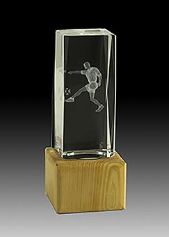 Trofeo Cristal Asón 17 cm 15 cm 13 cm