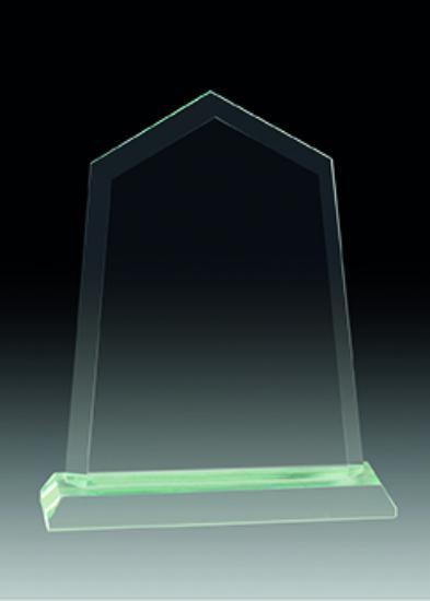 Trofeo de Cristal personalizable a todo color con base de cristal 20x16cm 17x14 cm 13x11 cm