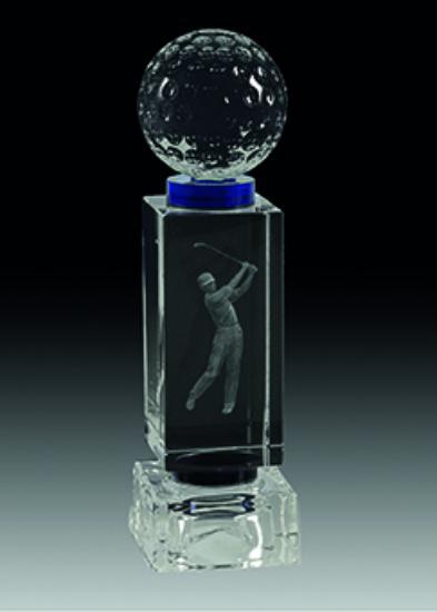Trofeo de Cristal rectangular Magro 21 cm 18 cm 15 cm