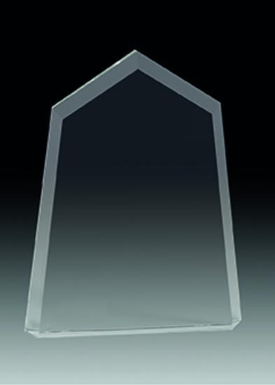 Trofeo Cristal Valderaduey para personalizar 18x14 cm 15x11.5 cm 12x10 cm