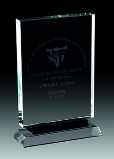 Trofeo de cristal. Modelo del mar 24 cm 19 mm 21 cm 19 mm 18 cm 19 mm 15 cm 19 mm