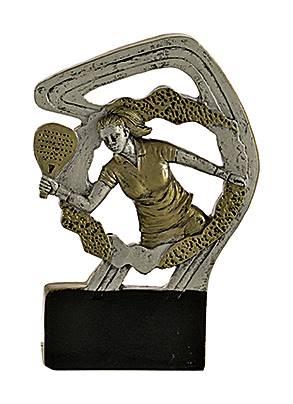 Trofeo en Resina. Tenis. Femenino 12 cm