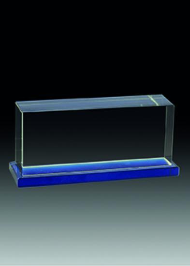Trofeo Cristal Soporte Azul vertical 13 cm vertical 11 cm vertical 9 cm
