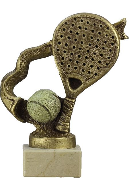 Trofeo raqueta de padel Dorado 17 cm 15 cm 12 cm