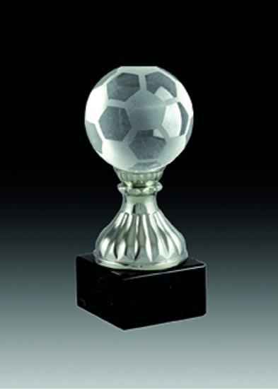 Trofeo de cristal. Modelo ocotlan 14 cm 12 cm 10 cm