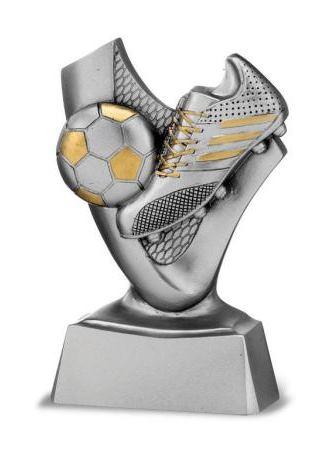 Trofeo fútbol bota modelo plata 10 cm