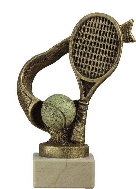 Trofeo de tenis modelo cinta dorado 18 cm 15 cm 12 cm