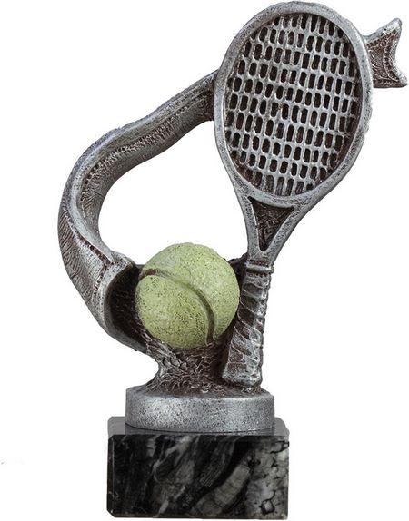 Trofeo de tenis modelo cinta plateado 18 cm 15 cm 12 cm