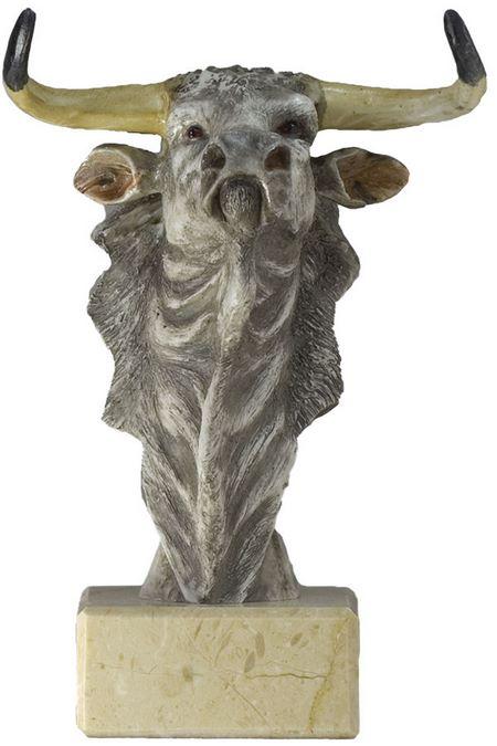 Trofeo varios acabados toro Toro Gris 25 cm 19 cm 16 cm