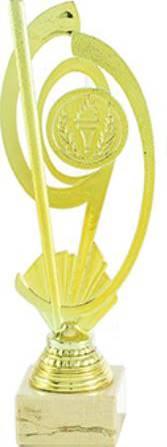 Trofeo Metal Decorado Ledesma 32 cm Oro
