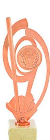Trofeo Metal Decorado Ledesma 29 cm bronce