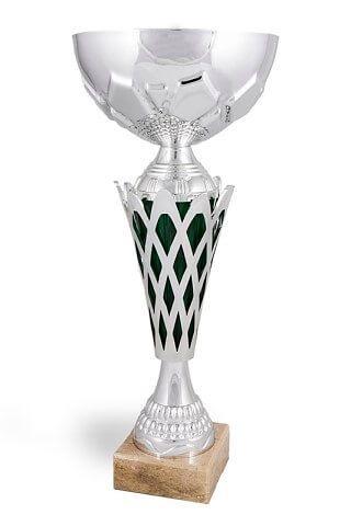 Copa Altamirano rejilla plateado y verde