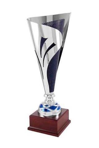 Copa Bicolor en acabados Plata y Rejilla azul