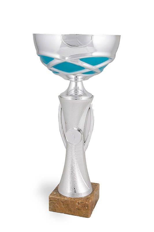Copa Calvillo Plateada y Azul con disco Deportivo