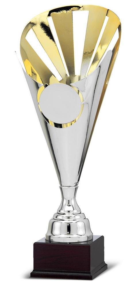 Copa Crasula Bicolor en acabado oro y plata