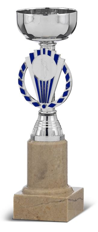 Copa Lamadrid campana alta en plateado y azul