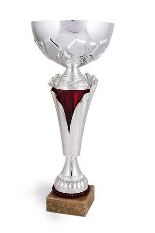 Copa Modelo Tejo en Acabados Plateados y Granates