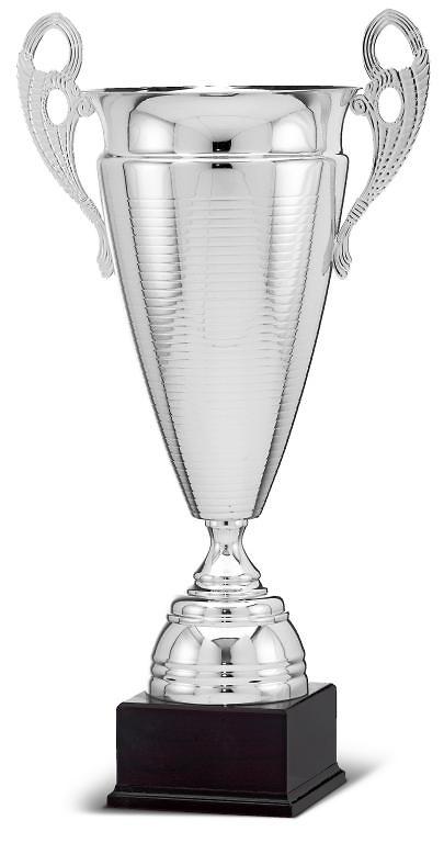 Copa calidad estilo modernista en plateado wooks