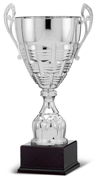 Copa calidad plateada o dorada campana efecto tejido mimbre