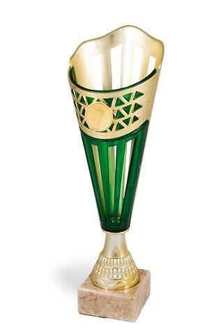 Copa con disco deportivo en color verde modelo Saucillo