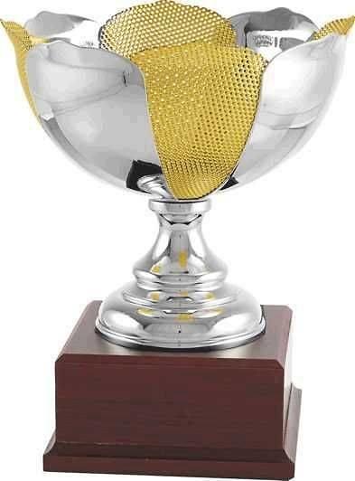 Copa economica plateada y amarilla. Modelo sinaxtla