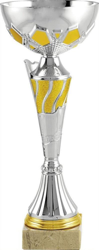 Copa economica plateada y amarilla. Modelo yaxe