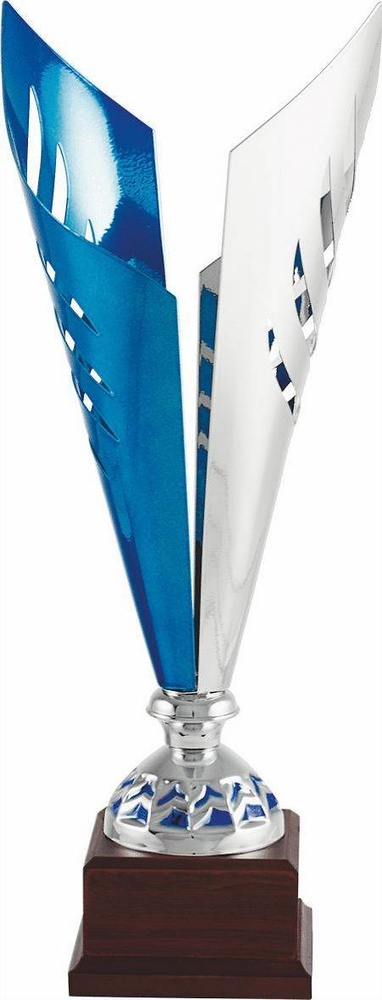 Copa economica plateada y azul. Modelo amozoc