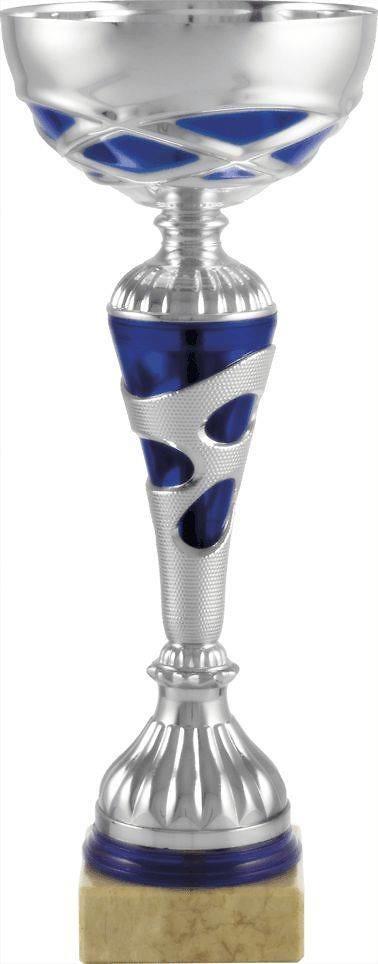 Copa economica plateada y azul. Modelo sitio.