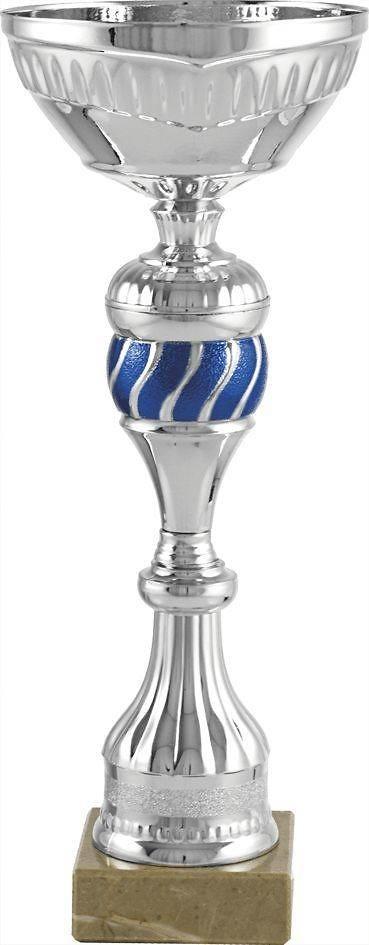 Copa economica plateada y azul. Modelo yaveo