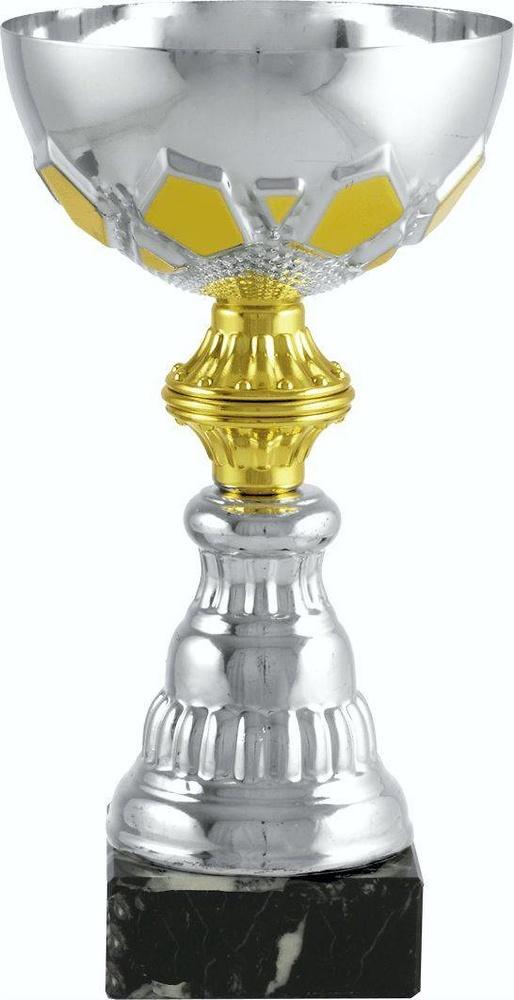 Copa economica plateada y dorada. Modelo castro