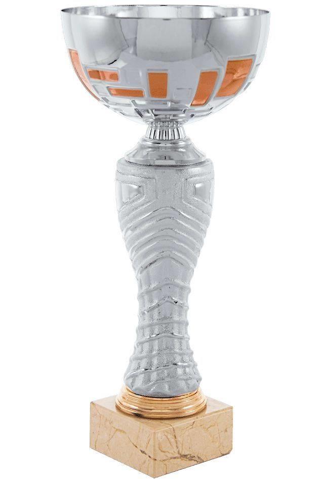 Copa economica plateada y naranja. Modelo matamoros