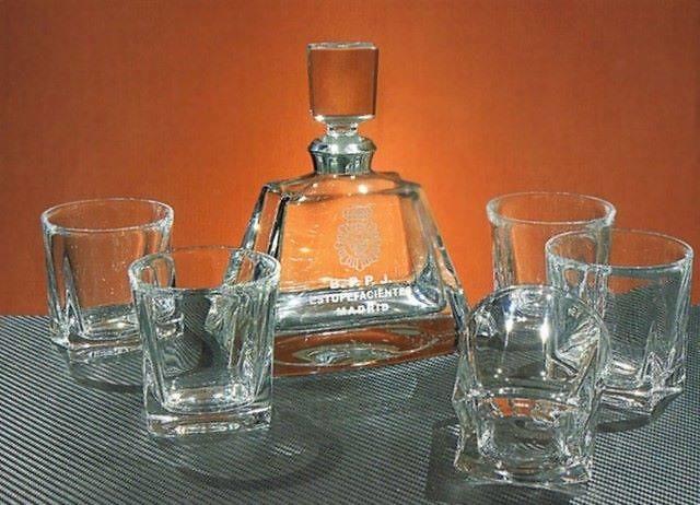 Juego Whisky Ebira Botella Vasos Cristal