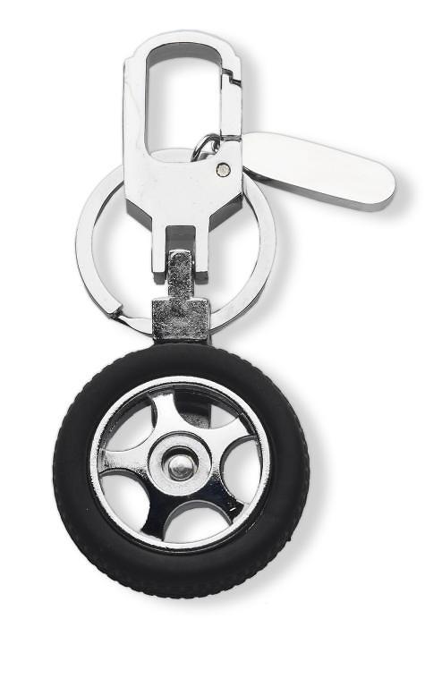 Llavero para deportes de motor con rueda