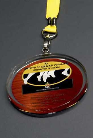 Medalla Deportiva Budama Deportiva Cristal