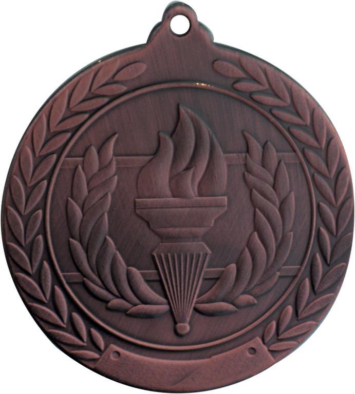 Medalla Deportiva de 50 mm Ø acabado en oro de alegórico