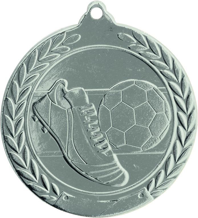 Medalla Deportiva de 50 mm Ø acabado en oro de futbol